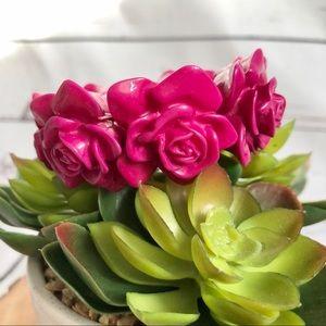 🆕NWT Nordstrom Floral bracelet in hot pink
